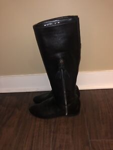 Stuart Weitzman Black Napa Leather Knee Boot - Size 8