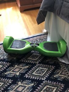 Green hover board with charger