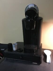 Keurig with k-cup drawer