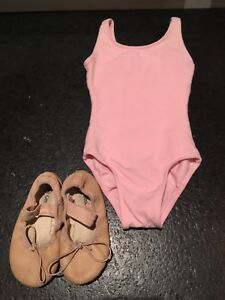 Dance outfit with ballet shoes