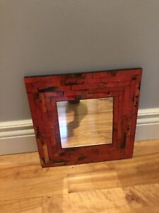 Small mosaic red mirror