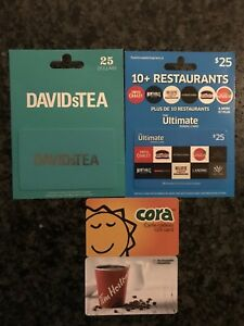 David's / Cora's / Tim Hortons / Ultimate Dining gift card