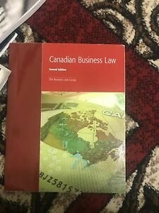 Canadian business law textbook