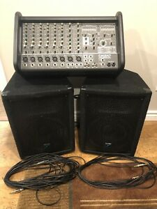 Yorkville PA - M810-2 powered Mixer with Speakers