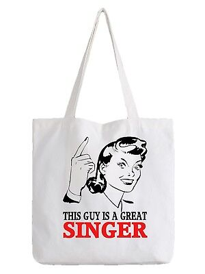 Singer Tote Bag Shopper Best Gift Great Music Band Song Singing Sing Talent