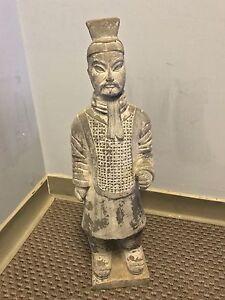 Terracotta warrior statue decoration