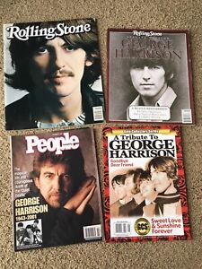 George Harrison Memorial Magazine Lot of 4 Beatles Rolling Stone