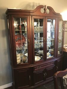 Hutch and Dinning table with chairs