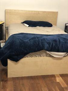 IKEA Queen MALM + mattress