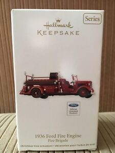 1936 Ford Fire Engine Christmas Ornament