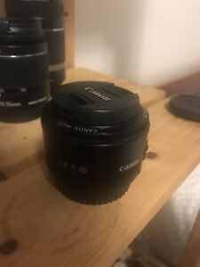 Canon 50mm F 1.8 camera Lens - Ef mount