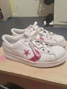 Converse All Star White And Pink Size 10 Stonyfell Burnside Area Preview