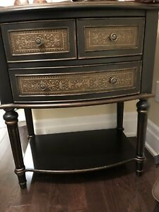 Bombay Co. Hallway/Entrance Cabinet and stool