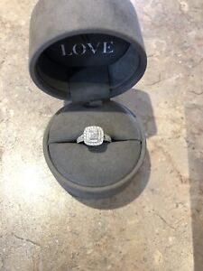 1.45 CT Vera Wang love collection engagement ring