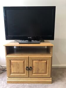 Wooden TV cabinet with storage
