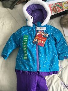 New baby girl snow suit