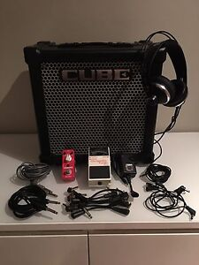 Amp Practise Set - Roland Cube 20GX, AKG Headphones, TU-3 Tuner + more Mansfield Brisbane South East Preview
