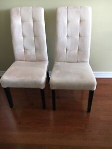 Pair of Parsons dining/accent chairs