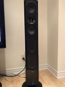 Klipsch icon powered speakers and pioneer elite amp