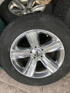 Dodge Ram 1500 aluminum wheels with winter tires and tps sensors