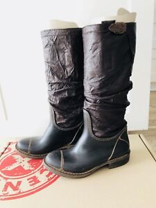 Rain Boots with Leather Upper - Brand New