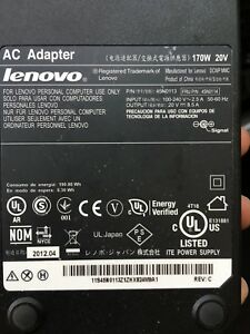 Lenovo power adapter 170W 20V