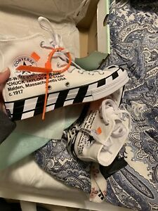 OFF WHITE CONVERSE SIZE 6 MENS