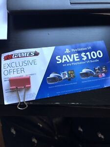 Playstation VR $100 off Brand New Package at EB Games