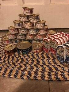 24 cans of cat food and 22 pate servings