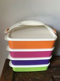 Tupperware click containers set of 4 - brand new