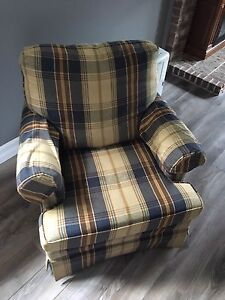 Cushion chairs and love seat