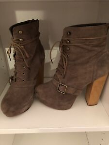 carnaby brown suede military steve madden boots