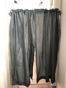 Black out curtains with rod