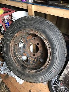 Tire and rim off 46 to 52 ford truck
