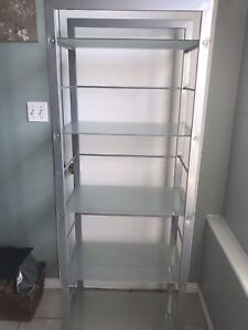Structube glass and metal bookcase/shelf