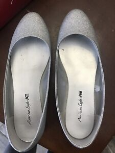 Women's Sparkly Flat Shoes - Size 6