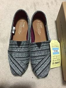 Brand new TOMS - classic silver - women size 7