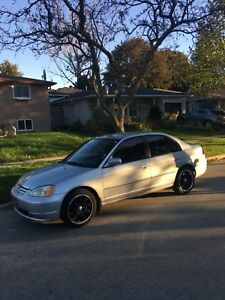 2001 HONDA CIVIC WITH LEATHER SEATS AND RIMS