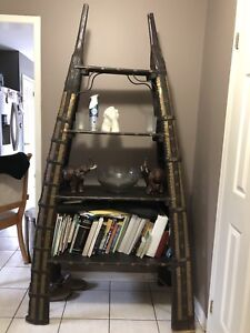 Antique wooden piece, book shelf.
