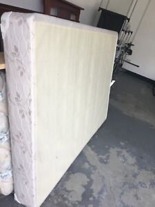 Two double mattress box springs