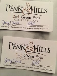 Cheap 2 for 1 golf passes