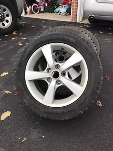 16 inch rims with Marshall winter tires (75-80% tread)