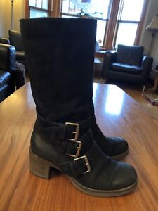 Very Good Quality Knee High Suede Boots sz 9