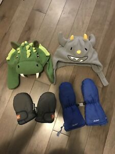 12-24M boy winter hats mittens