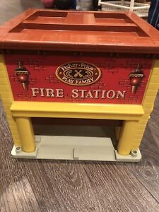 Vintage Fisher Price Fire Station and Farm