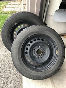 195/65/15 Michelin X ICE Winter Tires With Rims. LIKE NEW