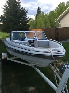 16 foot marvac with 50hp mercury