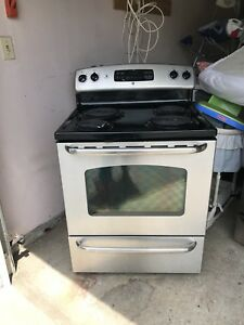 "30"" ge stainless steel stove self clean/can Deliver"