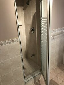 Shower glass door, perfect condition, 2 feet opening to install