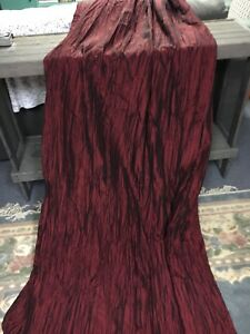 2 Burgundy Red Curtain Panels